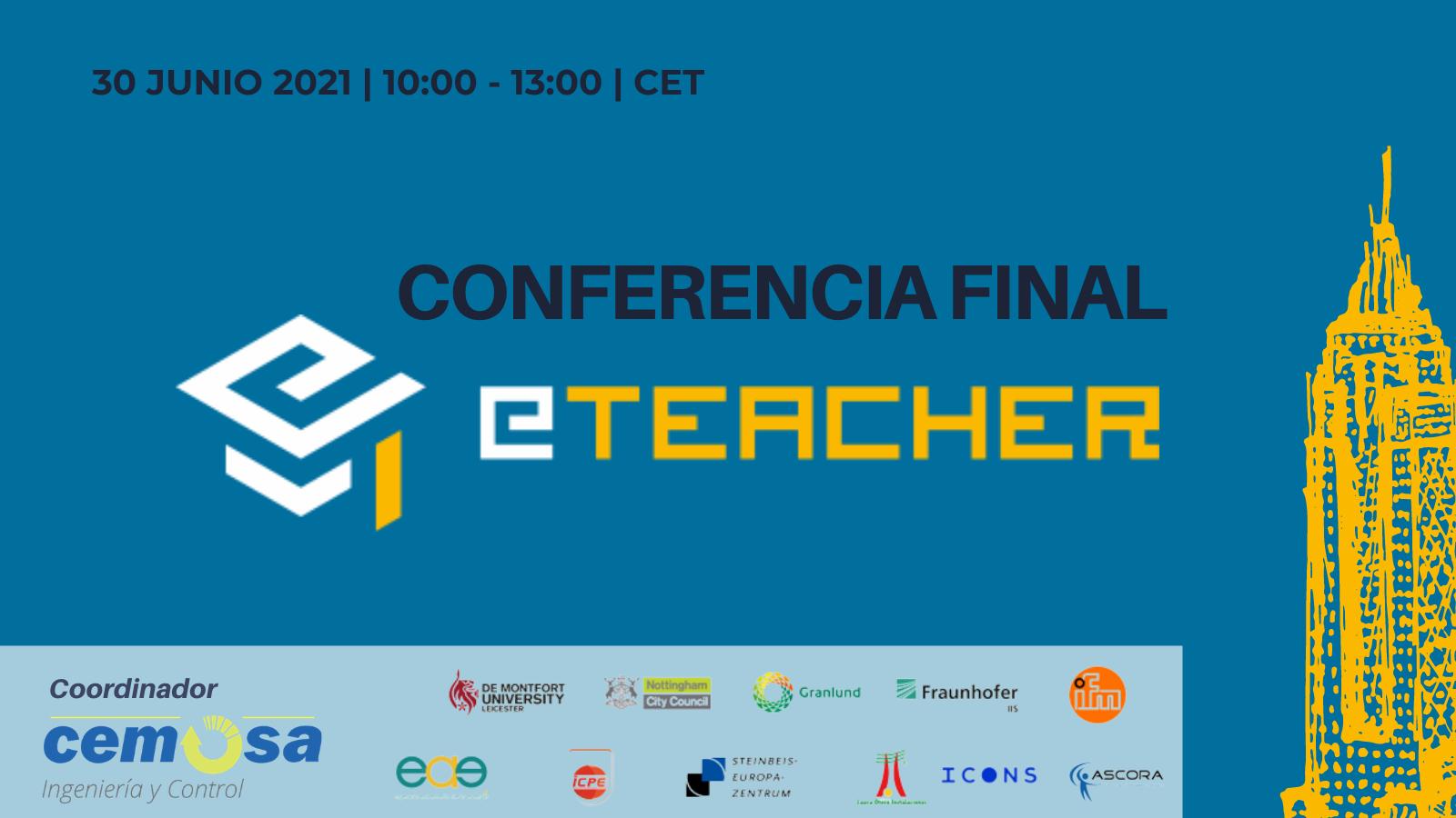 Os invitamos a la conferencia final de nuestro proyecto de I+D eTEACHER